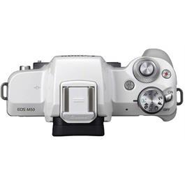 Canon EOS M50 Mirrorless Camera Body - White Thumbnail Image 6